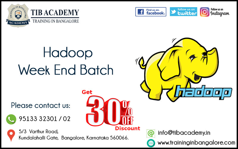 Hadoop Training in Bangalore Offer