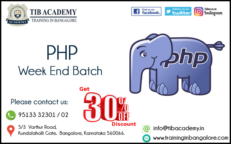 PHP Training in Bangalore Offer