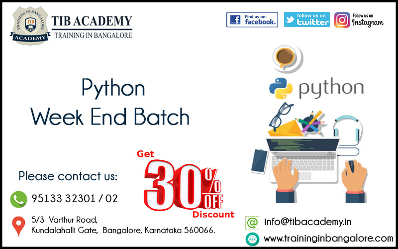 Python Training in Bangalore Offer