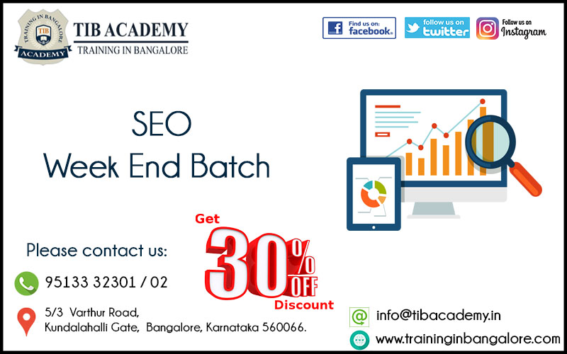 SEO Training in Bangalore Offer