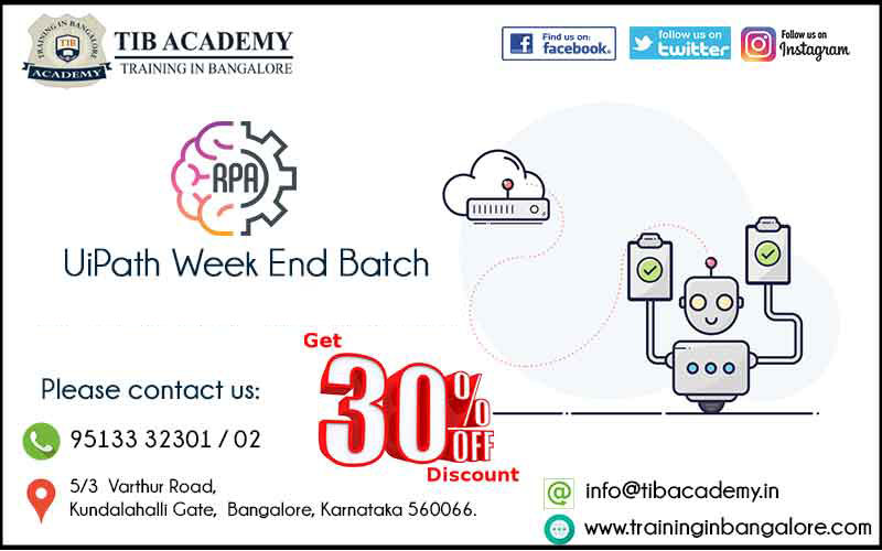 Best RPA UiPath Training in Bangalore | 30% Discount Offer in Course