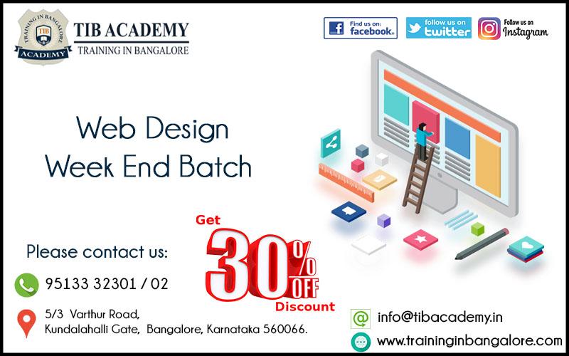 Web Design Training in Bangalore Offer